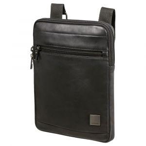 """Samsonite Pánská kožená taška přes rameno Hip-Square L 9,7"""" – černá p55200"""