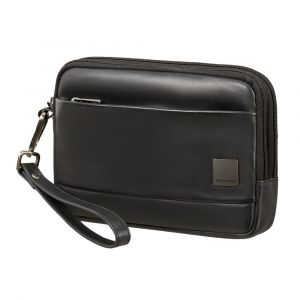 Samsonite Pánská kožená taška do ruky Hip-Square – černá p55202