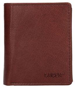 Lagen Pánská kožená peněženka 02310004 Brown mla0798