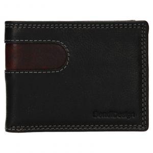 Pánská kožená peněženka SendiDesign Pent – černo-hnědá 110735