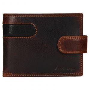 Pánská kožená peněženka SendiDesign Fion – hnědo-černá 110734