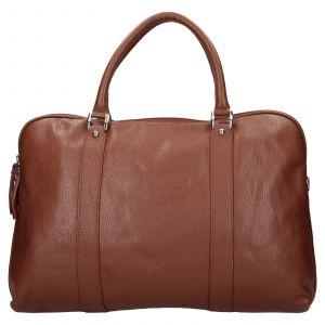 Pánská kožená taška přes rameno Katana Petrson – koňak 110747