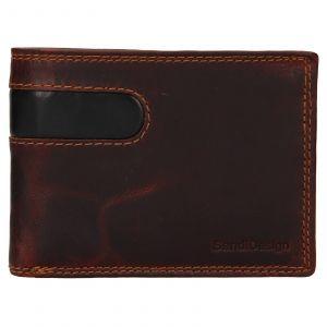 Pánská kožená peněženka SendiDesign Didier – hnědá 110745
