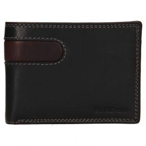 Pánská kožená peněženka SendiDesign Didier – černá 110744
