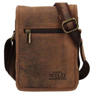 Pánská taška přes rameno Always Wild Igor – hnědá 110749