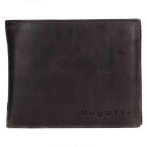 Pánská kožená peněženka Bugatti Rodrigo – tmavě hnědá 1506