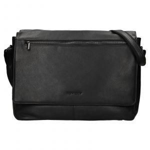 Pánská celokožená taška přes rameno Rovicky Vanec – černá 110765