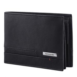 Samsonite Pánská kožená peněženka Pro-DLX 5 SLG 007 – černá p55425