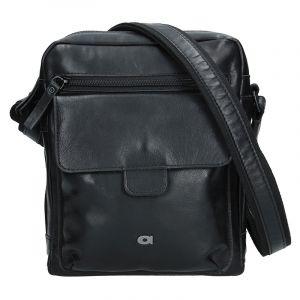 Pánská kožená taška Daag TAKE AWAY 5 – černá 11256