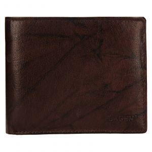 Pánská kožená peněženka Lagen Niklas – hnědá 110858