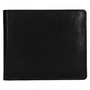 Pánská kožená peněženka Lagen Niklas – černá 110857