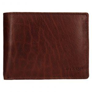 Pánská kožená peněženka Lagen Kryštof – hnědá 110856