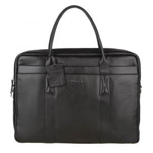 Pánská kožená taška na notebook Burkely Dominic – černá 110864