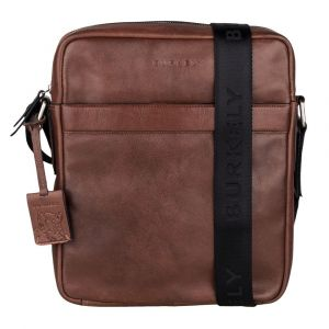 Pánská kožená taška přes rameno Burkely Kavins – hnědá 110873