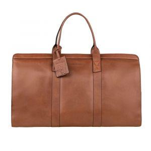 Kožená cestovní taška Burkely Weekender – koňak 110869