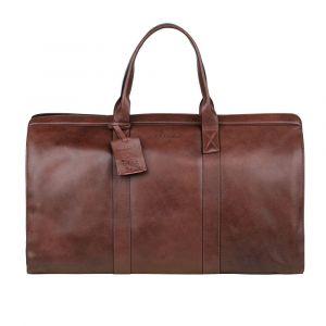 Kožená cestovní taška Burkely Weekender – hnědá 110868