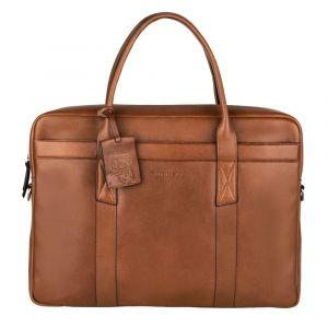 Pánská kožená taška na notebook Burkely Dominic – koňak 110866