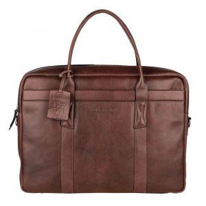 Pánská kožená taška na notebook Burkely Dominic – hnědá 110865