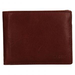 Pánská kožená peněženka Lagen Alexej – hnědá 110892