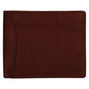 Pánská kožená peněženka Lagen Felixe – hnědá 110890