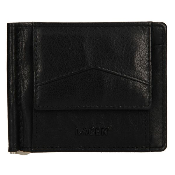 Pánská kožená dolarovka Lagen Picard – černá 110889