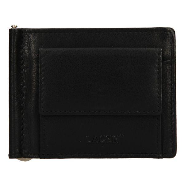 Pánská kožená dolarovka Lagen Keneth – černá 110888