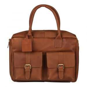Pánská kožená taška na notebook Burkely Elen – koňak 110885