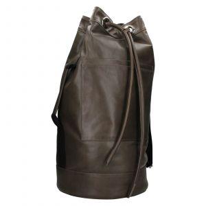 Kožený lodní vak facebag Bounty – hnědo-zelená 110937