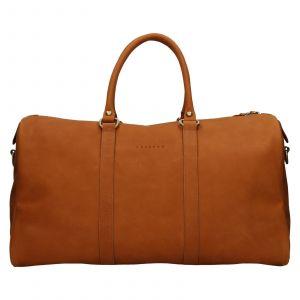 Kožená cestovní taška Facebag Davis – světle hnědá 110934