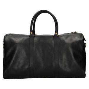 Kožená cestovní taška Facebag Davis – černá 110933