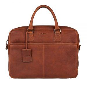 Pánská kožená taška na notebook Burkely Sammy – koňak 111007