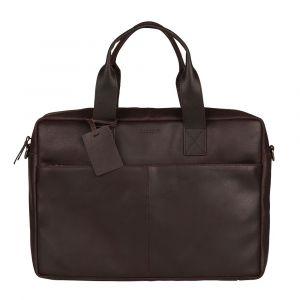 Kožená taška na notebook Burkely River – tmavě hnědá 111006