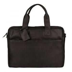 Kožená taška na notebook Burkely River – černá 111005