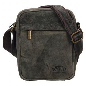 Pánská taška přes rameno Always Wild Mach – černo-šedá 110995