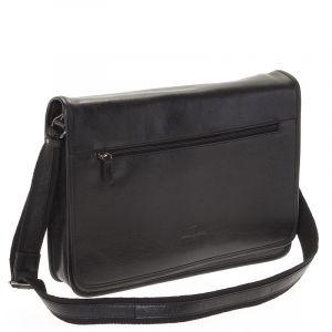 Černá kožená taška Hexagona 123482 černá 16137