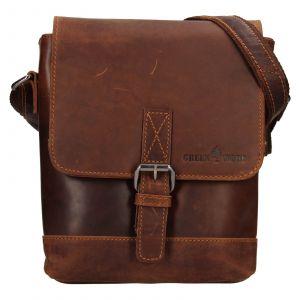 Pánská kožená taška přes rameno Greenwood Fion – hnědá 111172