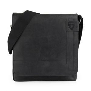 Strellson Pánská kožená taška přes rameno Richmond 1164 – černá p6458