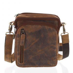 Přírodní hnědá pánská kožená taška na doklady – Tomas Svemir hnědá 162986