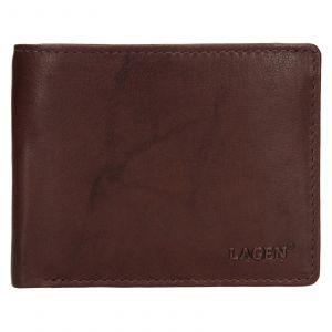 Pánská kožená peněženka Lagen Kall – tmavě hnědá 111214