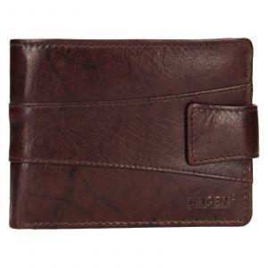 Pánská kožená peněženka Lagen Kevin – tmavě hnědá 111212