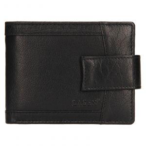 Pánská kožená peněženka Lagen Jacki – černá 111211
