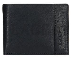 Lagen Pánská kožená peněženka 9113 Black mla0452