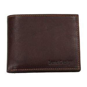 Pánská kožená peněženka SendiDesign 6001 (P) VT – hnědá 1569