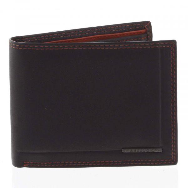Pánská volná prošívaná peněženka černá – Bellugio Pann černá 122250