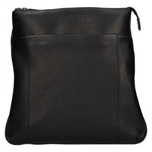 Luxusní kožená panská taška Ripani Vodin – černá 111305