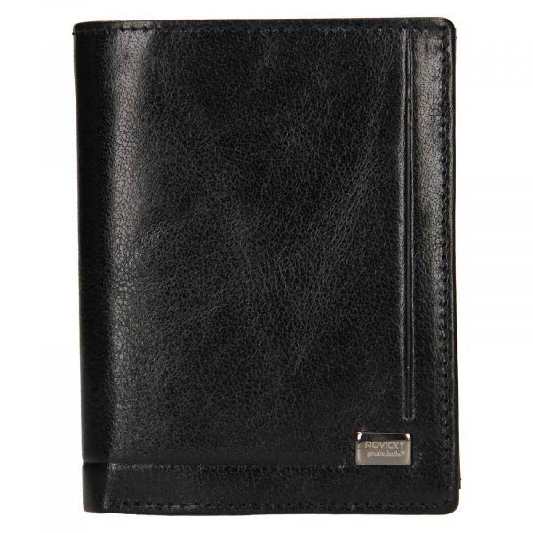 Pánská kožená peněženka Rovicky Lucas – černá 111288