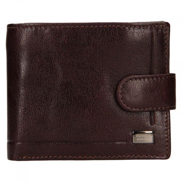 Pánská kožená peněženka Rovicky Oskar – hnědá 111287