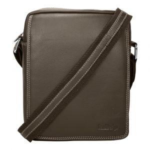 Pánská kožená taška přes rameno SendiDesign IG005 – hnědá 111322
