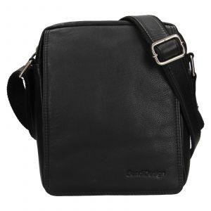Pánská kožená taška přes rameno SendiDesign Dens – černá 1449