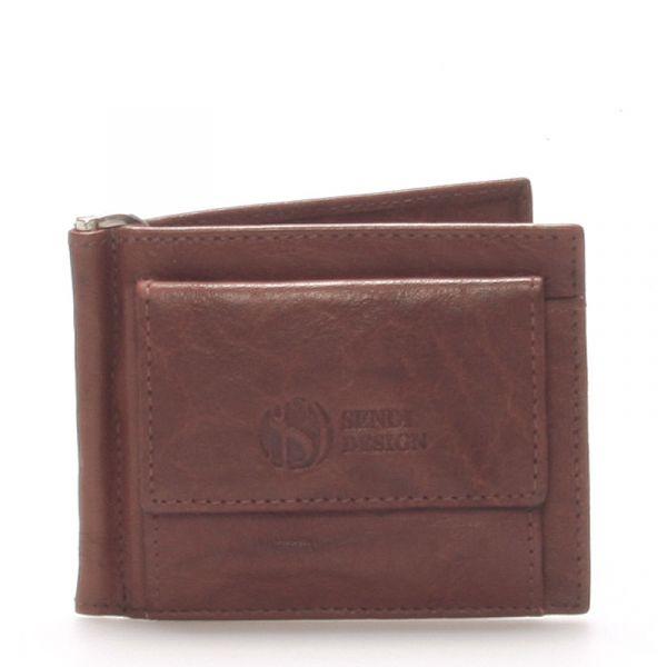 Pánská kožená dolarovka hnědá – Sendi Design 57 hnědá 73520
